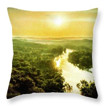 Near Table Rock Lake Throw Pillow