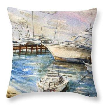 Near The Harbour 2 Throw Pillow