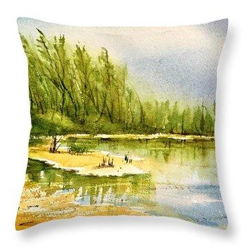 Near The Lake 4 Throw Pillow
