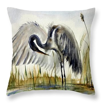 Near The Pond 3 Throw Pillow
