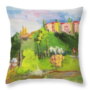 Near Tuscany Throw Pillow