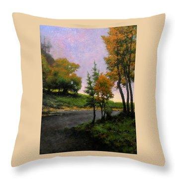 Near Woodland Throw Pillow