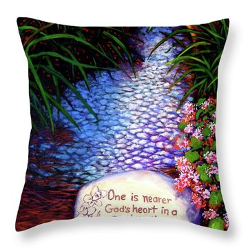 Garden Wisdom, Nearer Throw Pillow