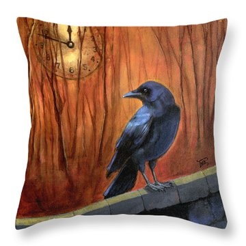 Nearing Midnight Throw Pillow by Terry Webb Harshman