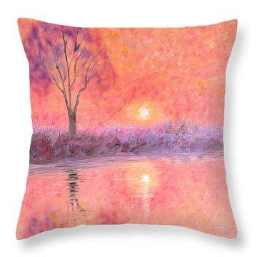 Throw Pillow featuring the digital art Nearly Twilight by Elizabeth Lock