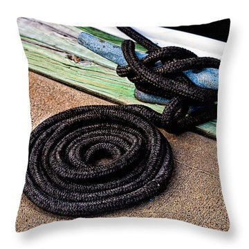 Neatly Tied Throw Pillow by Christopher Holmes