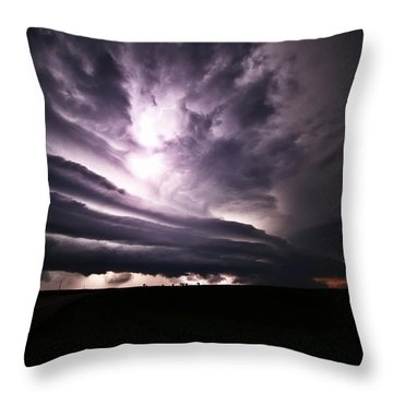 Nebraska Beast Throw Pillow