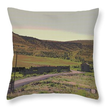 Nebraska Farm Life - The Paddock Throw Pillow