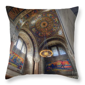 Throw Pillow featuring the photograph Nebraska State Capitol by Art Whitton