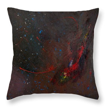 Throw Pillow featuring the painting Nebula by Michael Lucarelli