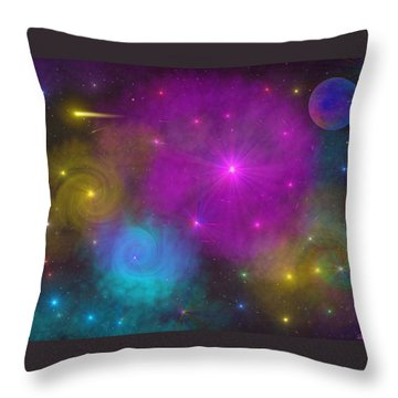 Throw Pillow featuring the photograph Nebula Wars by Bernd Hau
