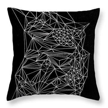 Nebulous Twice Throw Pillow