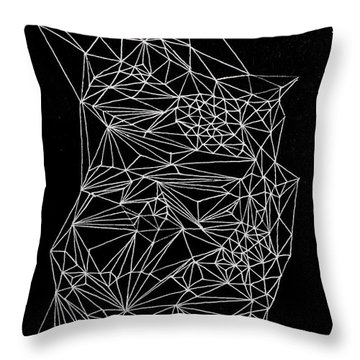 Nebulous Twice Throw Pillow