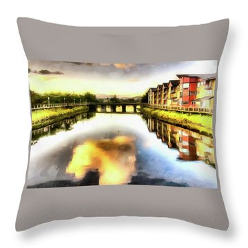 Throw Pillow featuring the photograph Necanium River Seaside by Thom Zehrfeld