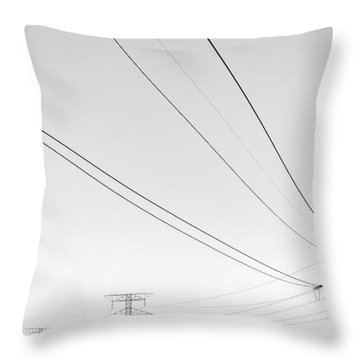 Electrical Distribution Throw Pillows