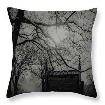 Throw Pillow featuring the digital art Necropolis Nine by Chris Lord