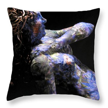 Nectar Detail On Black Throw Pillow by Adam Long