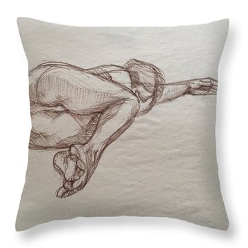 Need Time Alone  Throw Pillow by Anastasiya Baron