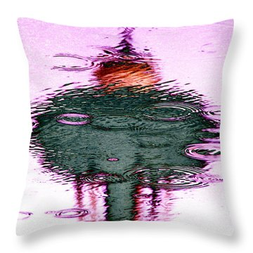Needle In A Raindrop Stack 2 Throw Pillow by Tim Allen