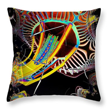 Needle In Fractal 2 Throw Pillow by Tim Allen