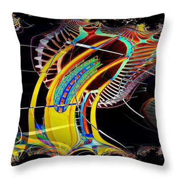 Needle In Fractal 4 Throw Pillow by Tim Allen