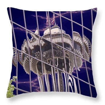 Needle Reflection Throw Pillow by Tim Allen