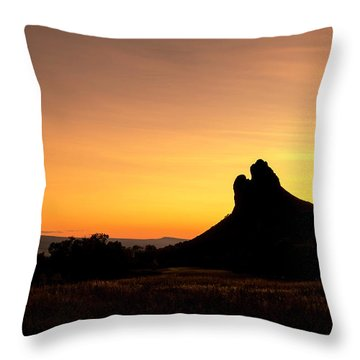 Needle Rock Throw Pillow