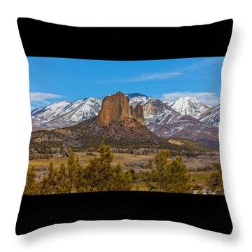 Needle Rock  Throw Pillow