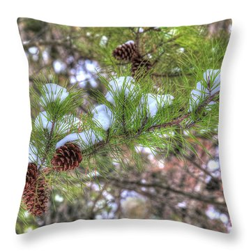 Needles And Cones Throw Pillow