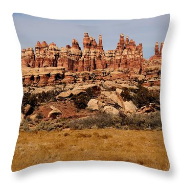 Needles At Canyonlands Throw Pillow