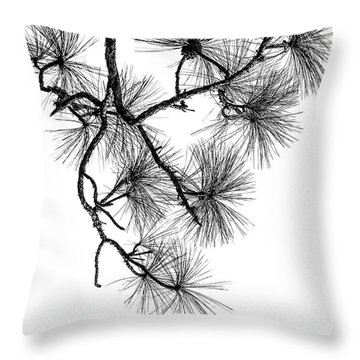 Needles II Throw Pillow