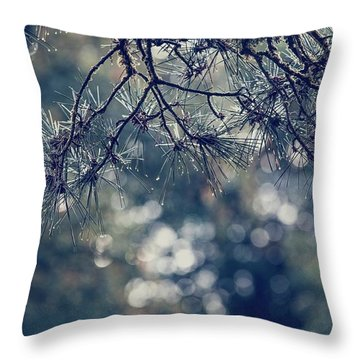 Needles N Droplets Throw Pillow