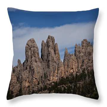 Needles, North Dakota Throw Pillow