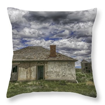 Throw Pillow featuring the photograph Needs Work by Bitter Buffalo Photography
