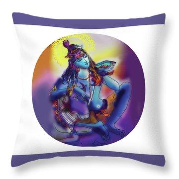 Neelakanth Shiva  Throw Pillow