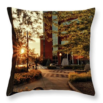 Throw Pillow featuring the photograph Neenah Center Sunset by Joel Witmeyer
