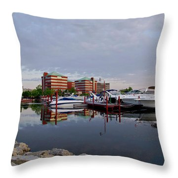 Throw Pillow featuring the photograph Neenah Harbor by Joel Witmeyer