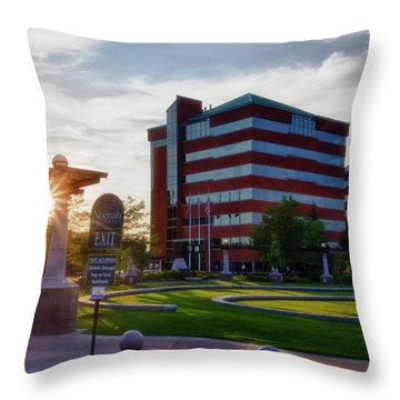 Throw Pillow featuring the photograph Neenah Riverwalk by Joel Witmeyer