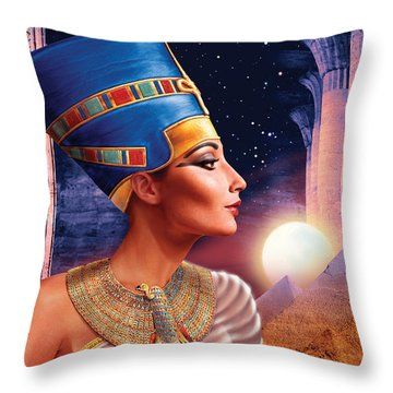 Nefertiti Variant 5 Throw Pillow by Andrew Farley