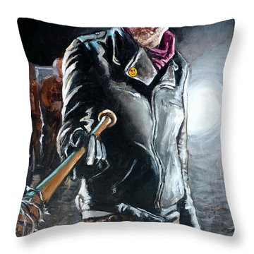 Negan Throw Pillow by Tom Carlton