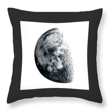 Negative Moon Throw Pillow