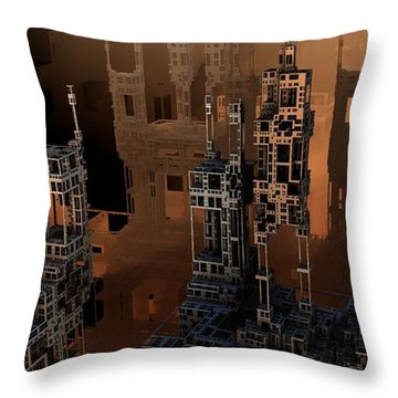 Negative Shadows Throw Pillow by Hal Tenny