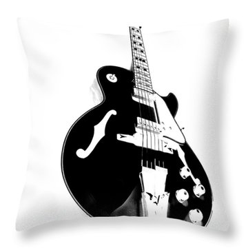 Negative Space Throw Pillow by Donna Blackhall