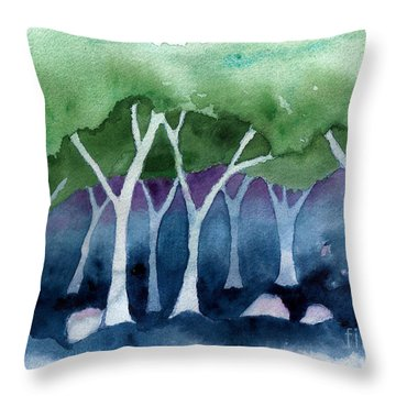 Negative Thinking Makes A Woodland Scene Throw Pillow