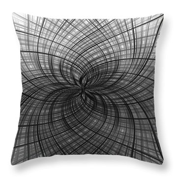 Throw Pillow featuring the digital art Negativity by Carolyn Marshall