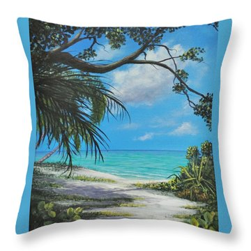 Negril Footpath Throw Pillow