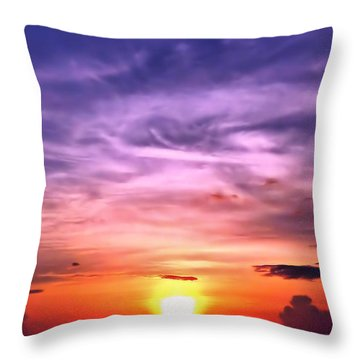 Negril Sunset Throw Pillow