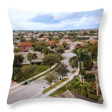 Neighborhood Aerial Throw Pillow