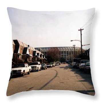 Neighborhood Park Throw Pillow by Susan Stevenson