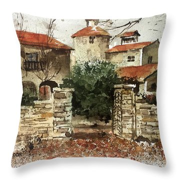Neighbors Gate Throw Pillow